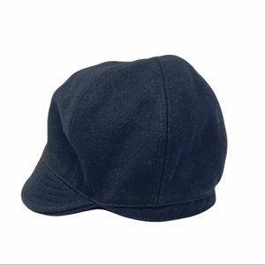 Woven Wool Women's Black Cap O/S